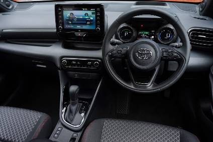 Toyota Yaris' tablet-inspired touchscreen is easy to use.